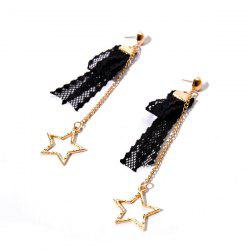 Lace Vintage Star Chain Earrings