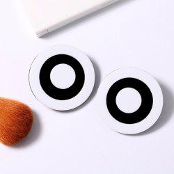 Color Block Embellished Circle Earrings