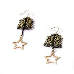 Star Chain Drop Hook Earrings