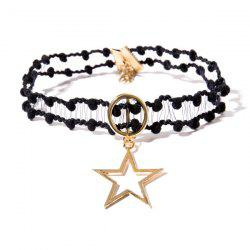 Crochet Star Circle Choker Necklace