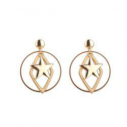 Alloy Geometric Star Circle Earrings
