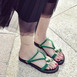 Metal Detail Flat Convertible Sandals