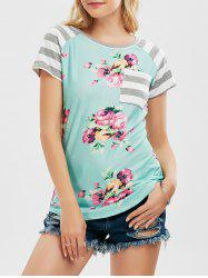 Floral Striped Pocket Tee