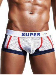U Pouch Color Block Openwork Panel Boxer Brief