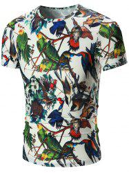 Multi Birds Printed Tee