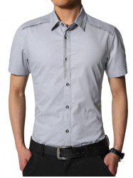 Short Sleeve Slim Fit Edging Cargo Shirt