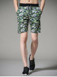 Drawstring Camouflage Board Shorts