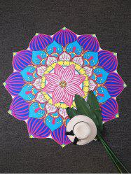 Mandala Lotus Shape Sunbath Beach Throw