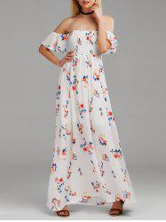 Floral Long Off The Shoulder Formal Dress