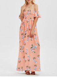 Floral Long Off The Shoulder Dress Formal -