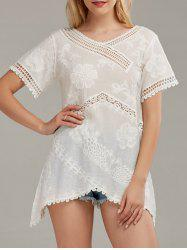 Crochet Jacquard Mini Cover Up Dress