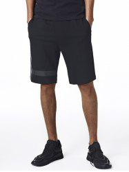 Embroidered Drawstring Edging Sweat Shorts