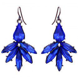 Artificial Sapphire Floral Shape Drop Earrings