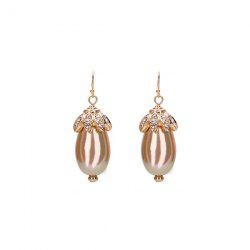 Water Drop Rhinestone Hook Earrings