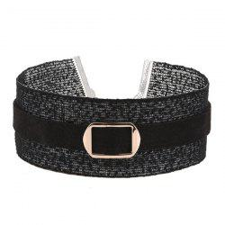 Buckle Embellished Wide Choker