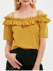 Cold Shoulder Ruffle Blouse