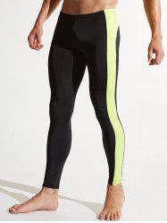Stripe Contrast Quick Dry Athletic Pants - Чёрный 2XL