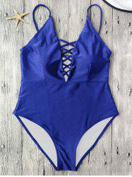 Cami Lace-Up Strappy Padded One-Piece Bathing Suit