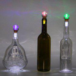 Diamond Shape Bottle Stopper with USB Charging Colorful Night Light