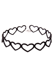 Vintage Embellished Heart Choker Necklace
