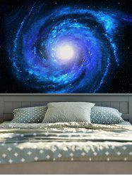 Wall Hanging Art Decor Night Sky Printed Tapestry - DEEP BLUE