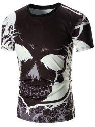 Devil Printed Crew Neck Tee - BLACK