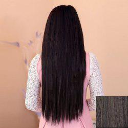 Casual Style Laconic Long Straight High Temperature Fiber Women's Hair Extension -
