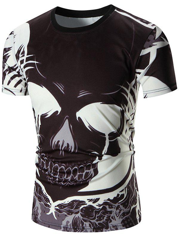 Devil Printed Crew Neck TeeMEN<br><br>Size: L; Color: BLACK; Style: Casual; Material: Polyester; Sleeve Length: Short; Collar: Crew Neck; Pattern Type: Print; Weight: 0.2220kg; Package Contents: 1 x Tee;
