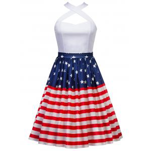 American Flag Patriotic High Waisted Skirt