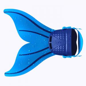 Adult Adjustable Mermaid Tail Swim Fins - Blue - W24 Inch * L71 Inch
