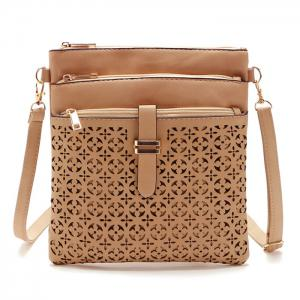 Hollow Out PU Leather Crosbody Bag