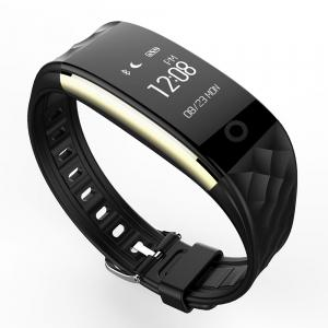 S2 Bluetooth Smart Bracelet with Heart Rate Monitor Notification GPS Sport Tracker Watch - BLACK