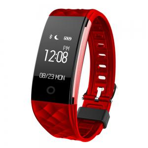 S2 Bluetooth Smart Bracelet with Heart Rate Monitor Notification GPS Sport Tracker Watch - Red