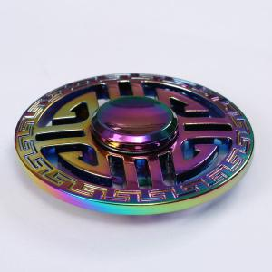 Colorful Round Hollow Out EDC Fidget Spinner - COLORFUL 6.5*6.5*1.5CM