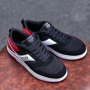 Tie Up Mesh Breathable Casual Shoes -