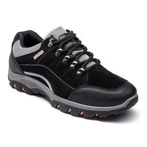 Faux Suede Colour Block Athletic Shoes - Black - 43