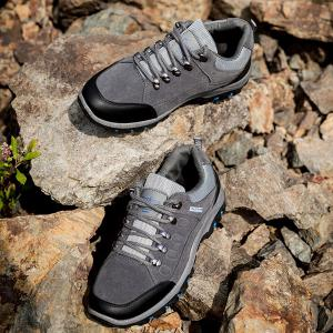 Faux Suede Colour Block Athletic Shoes -