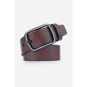 Faux Leather Rectangular Pin Buckle Belt -