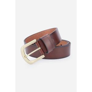 Rectangular Metallic Pin Buckle Fake Leather Belt - BROWN