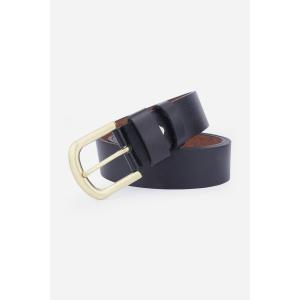 Rectangular Metallic Pin Buckle Fake Leather Belt -