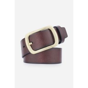 Artificial Leather Retro Rectangular Pin Buckle Belt -