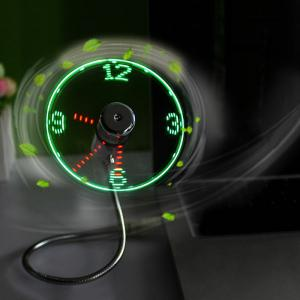 Mini USB Fan with Creative LED Clock Display