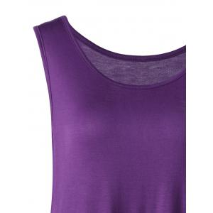 Lace Trim Plus Size Handkerchief Tank Top - PURPLE 4XL