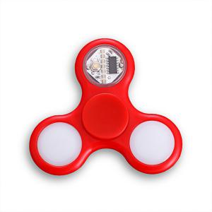 EDC Stress Reliever Fidget Spinner with 16 Pattern LED Light - RED