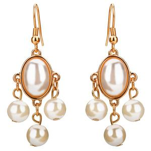 Artificial Pearls Pandant Dangling Earrings