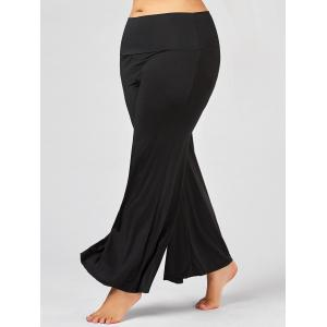 Plus Size Maxi High Rise Palazzo Pants - Black - Xl