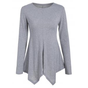 Long Sleeve Peplum Tunic Tee