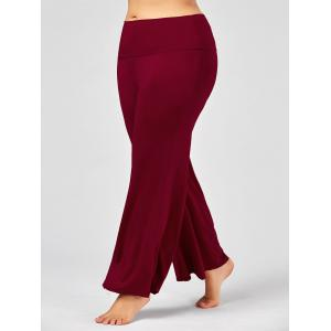 Plus Size Maxi High Rise Palazzo Pants