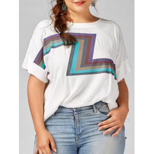 Plus Size Zigzag Plain Graphic T-shirt