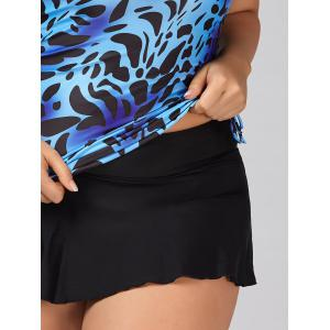 Ensemble Cheisseh Plus Size Skirt Tankini - Bleu 3XL